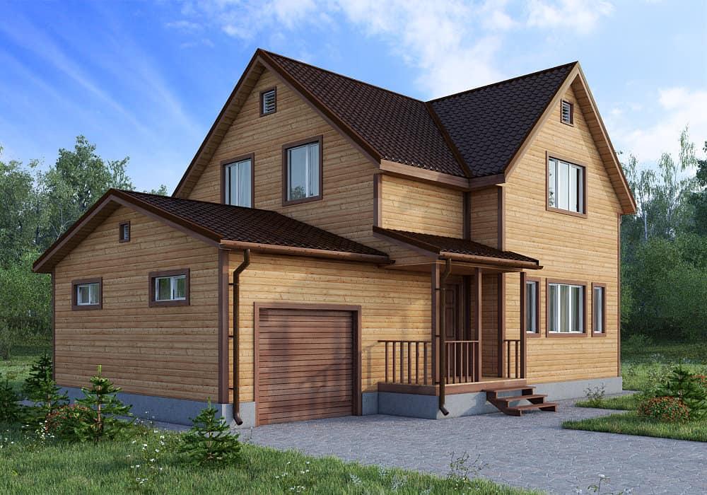 Использование новейших строительных материалов в оформлении наружных элементов частных домов, позволяет воплощать любые дизайнерские идеи