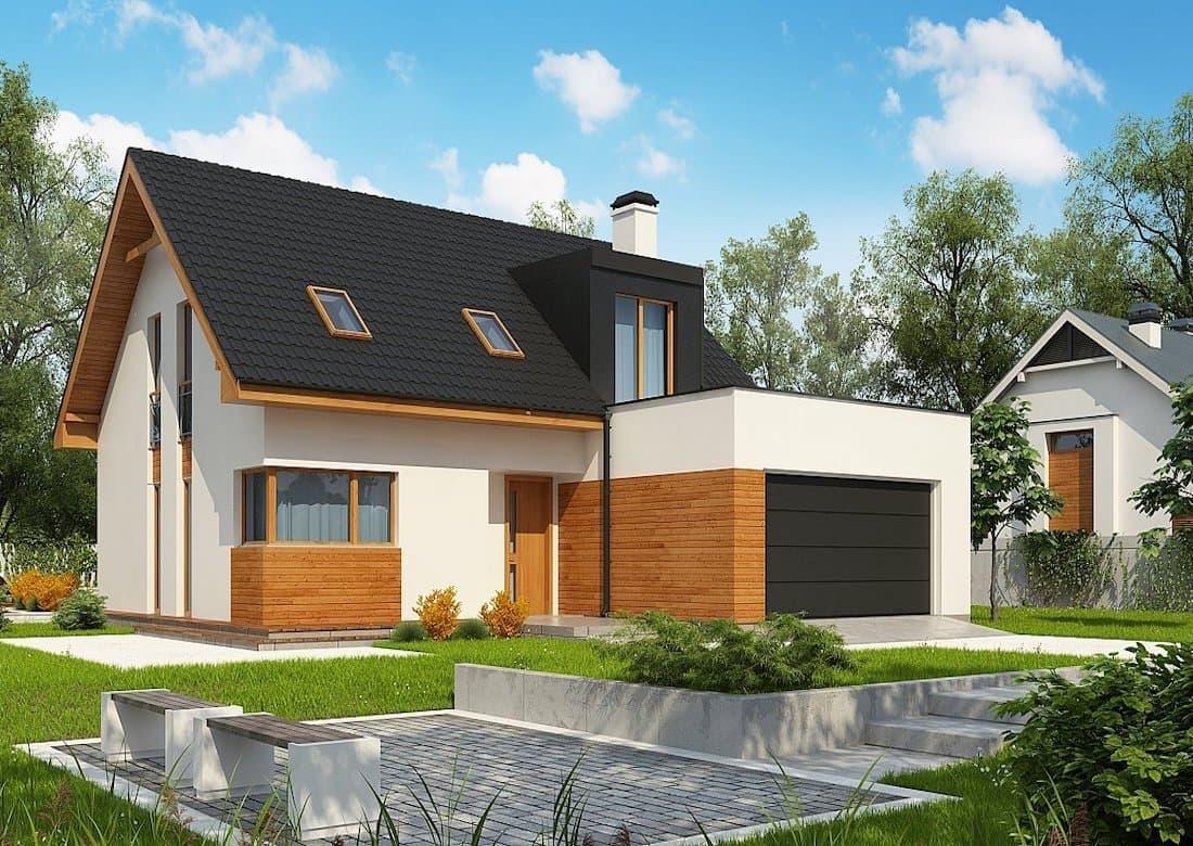 Плоская крыша гаража может использоваться в качестве открытой террасы