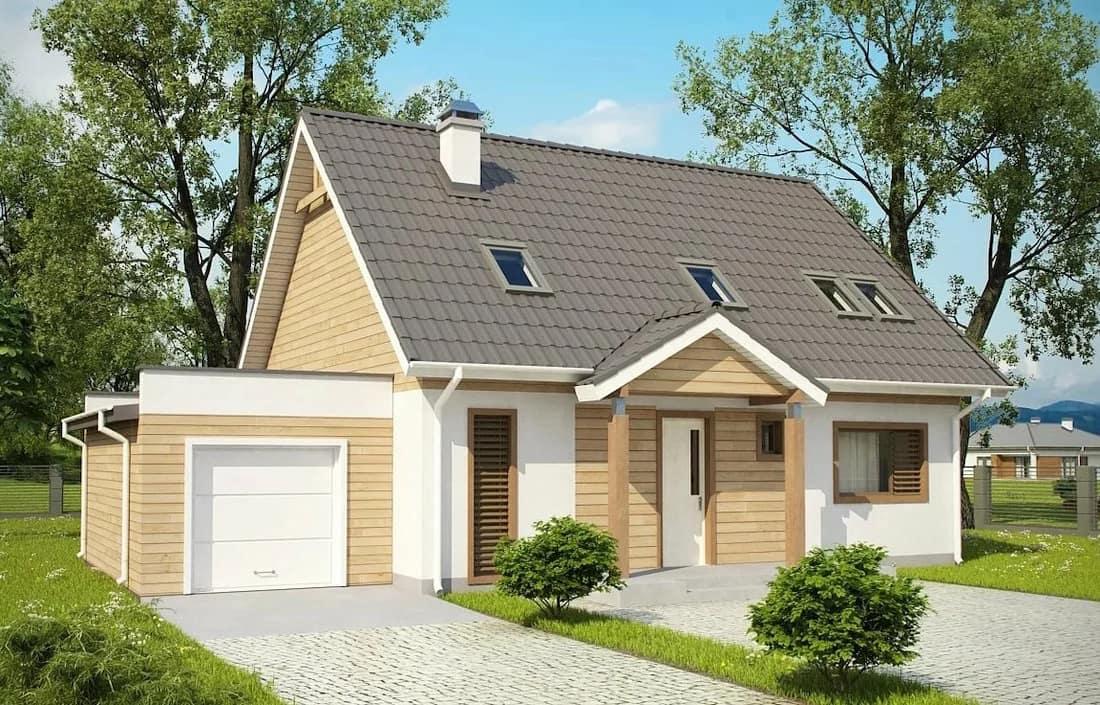Идеальное сочетание белого и коричневого цвета в оформлении стен дома