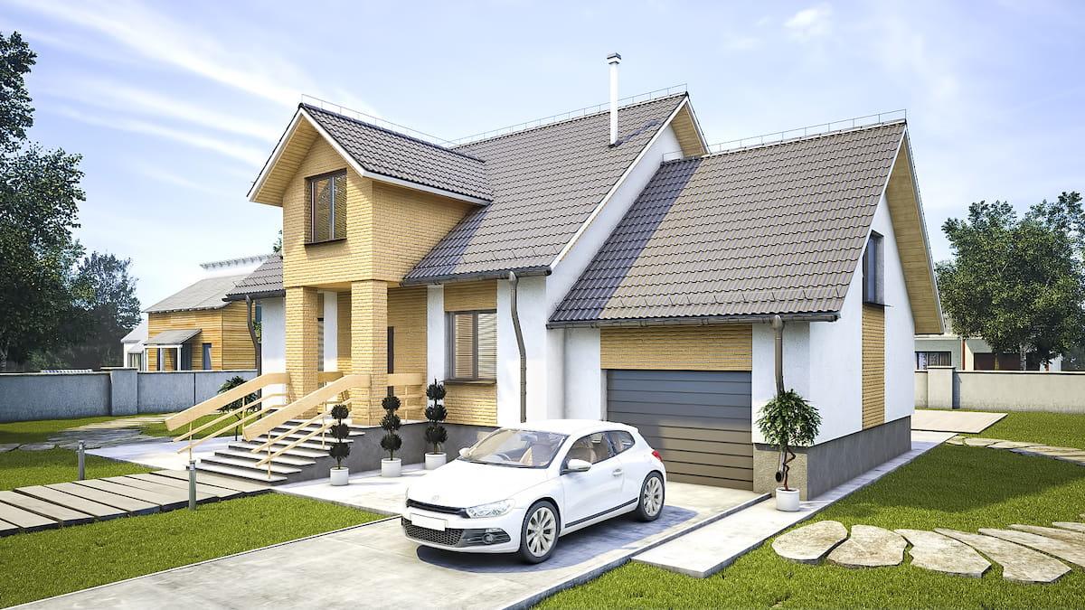 Идеальная планировка дома с гаражом, расположенным с лицевой стороны строения