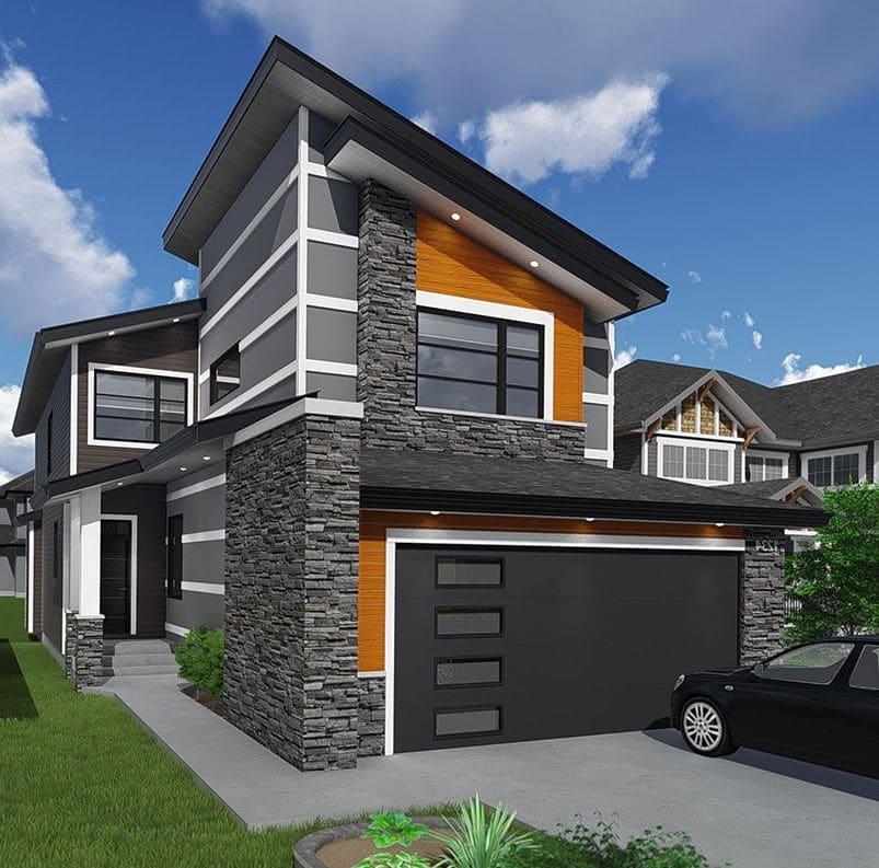 Дом с гаражом под одной крышей фото