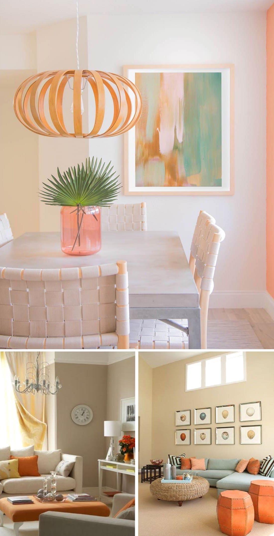 Оформляя интерьер в бежево-оранжевом цвете важно уделить внимание каждой детали