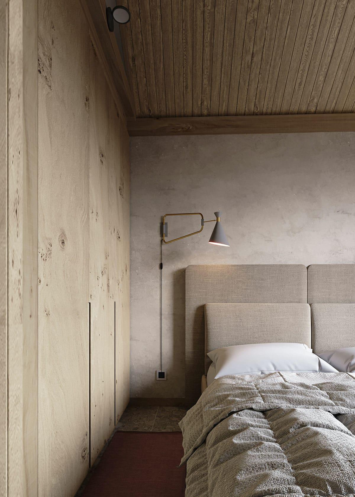 Элегантная спальня в эко стиле