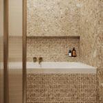 ванная в бежевых цветах фото 1