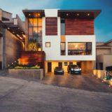 красивый дом с плоской крышей
