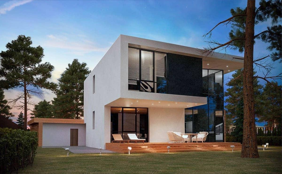 дом с плоской крышей проект фото 15