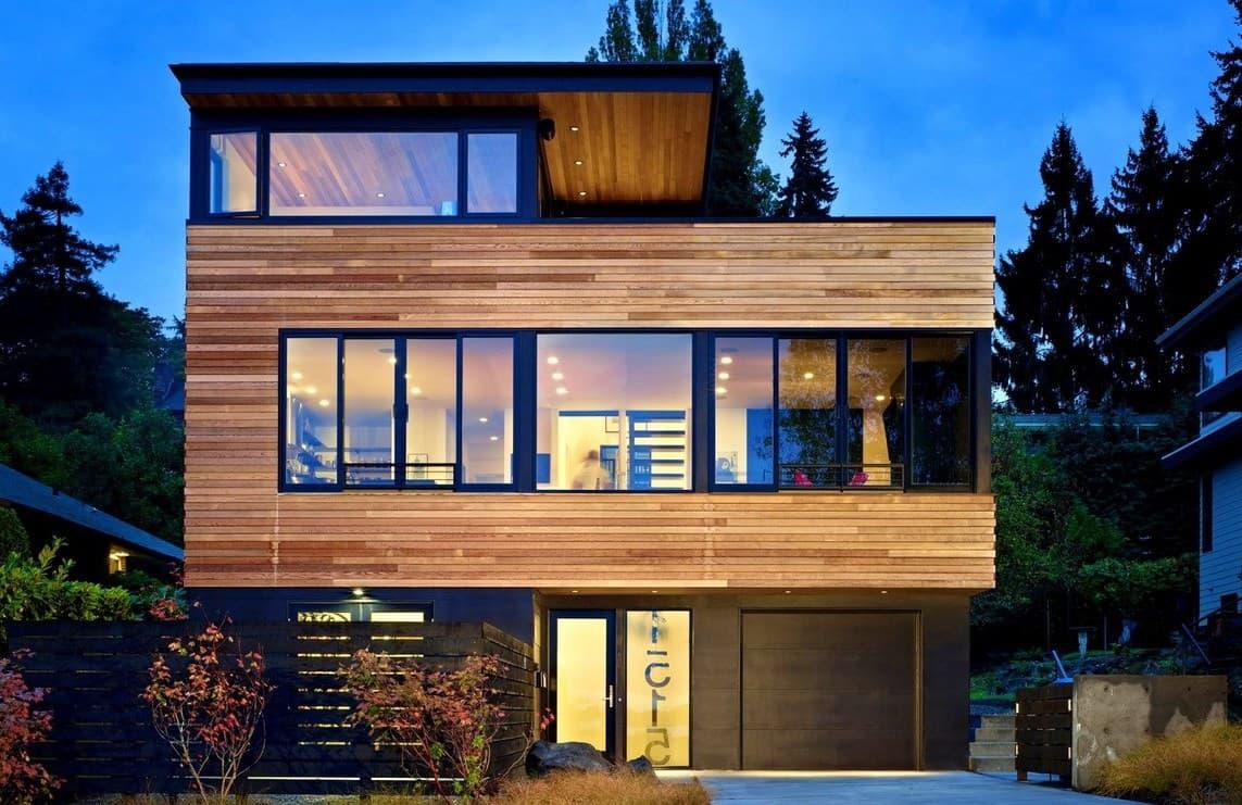 дом с плоской крышей проект фото 16