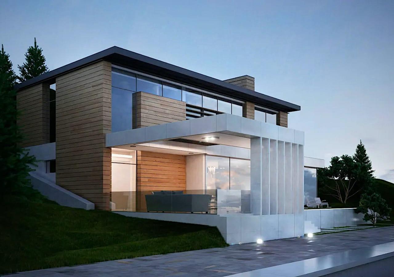 дом с плоской крышей проект фото 17
