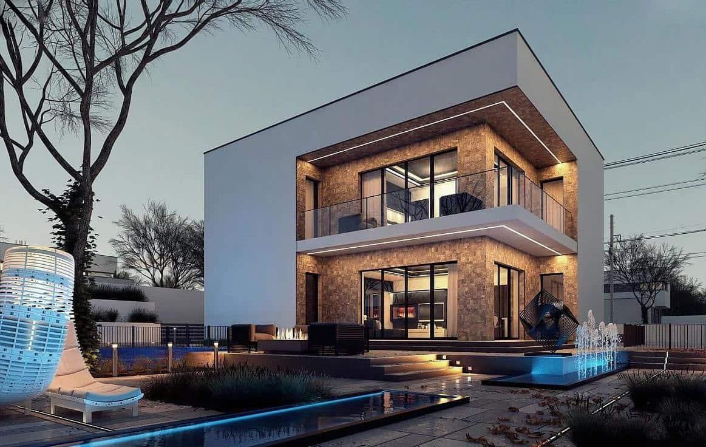 дом с плоской крышей проект фото 18