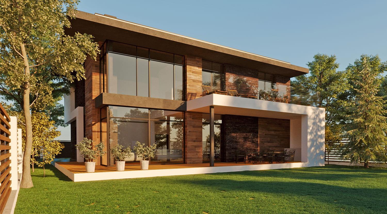 дом с плоской крышей проект фото 19