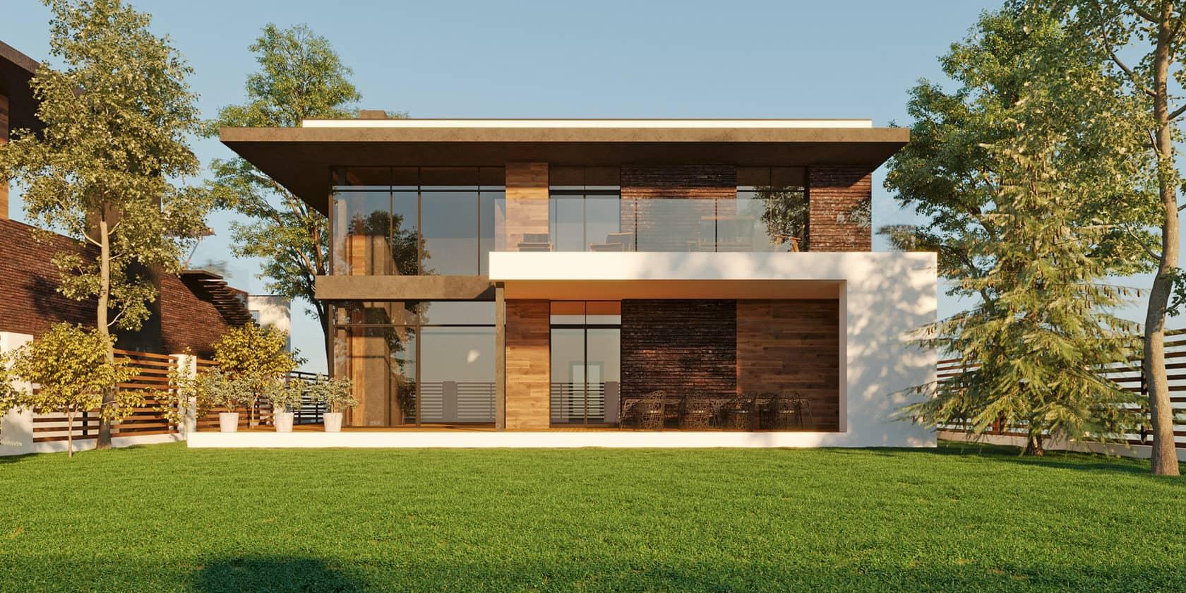 дом с плоской крышей проект фото 20