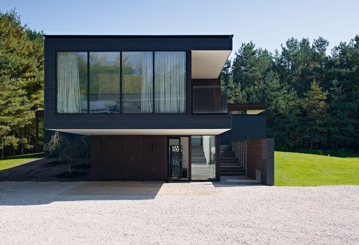Дом с плоской крышей в скандинавском стиле фото 6