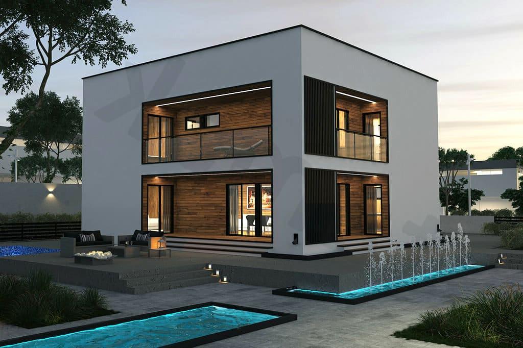 дом с плоской крышей проект фото 22