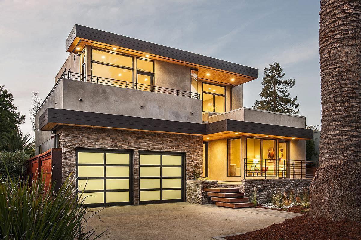 Дом с плоской крышей в скандинавском стиле фото 5