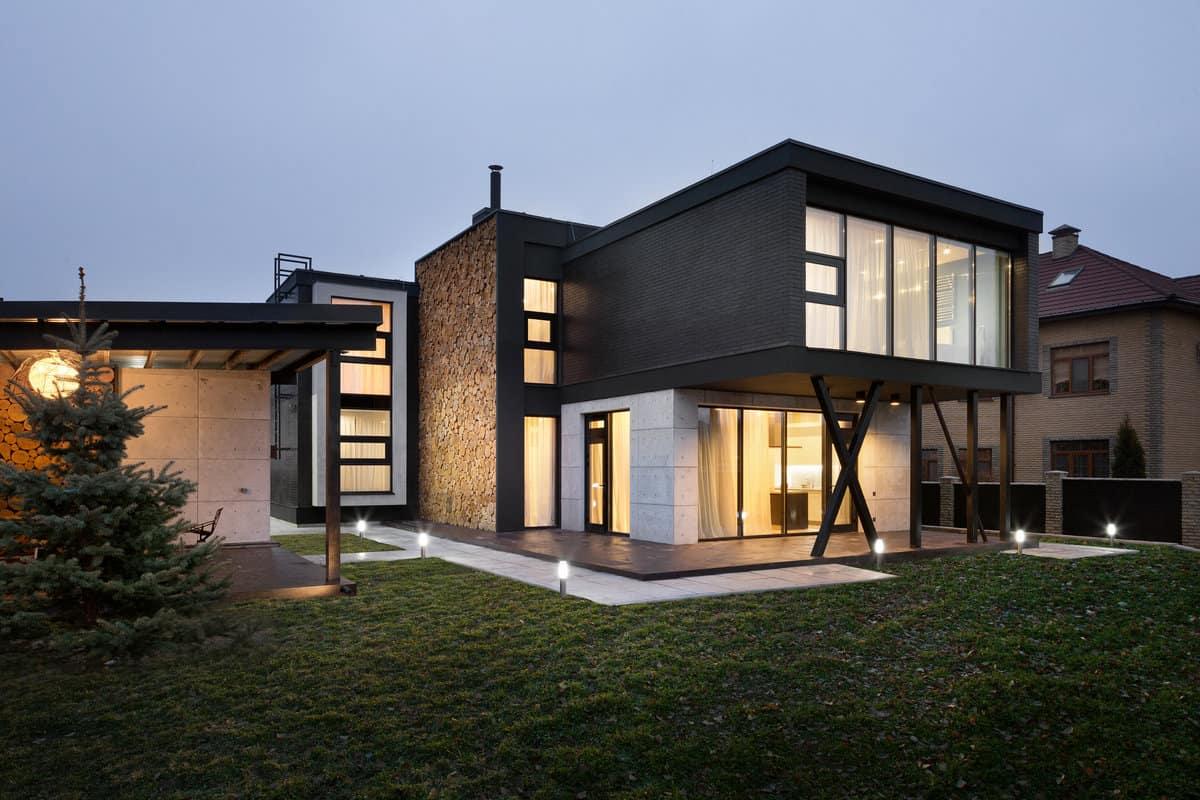 Дом с плоской крышей в скандинавском стиле фото 7