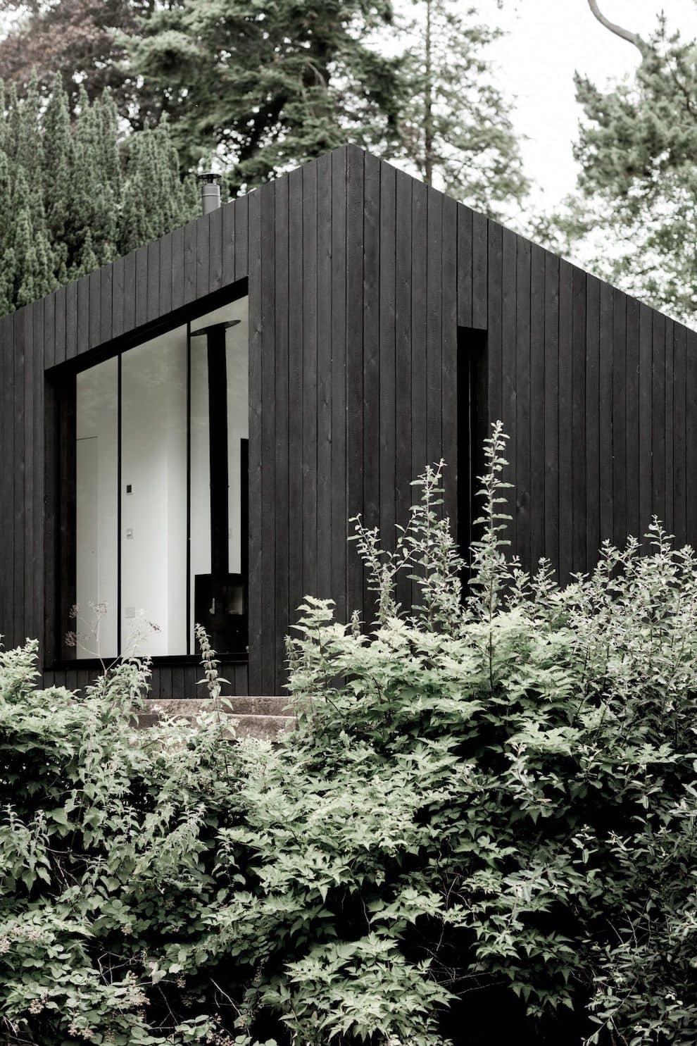 Дом с плоской крышей в скандинавском стиле фото 8