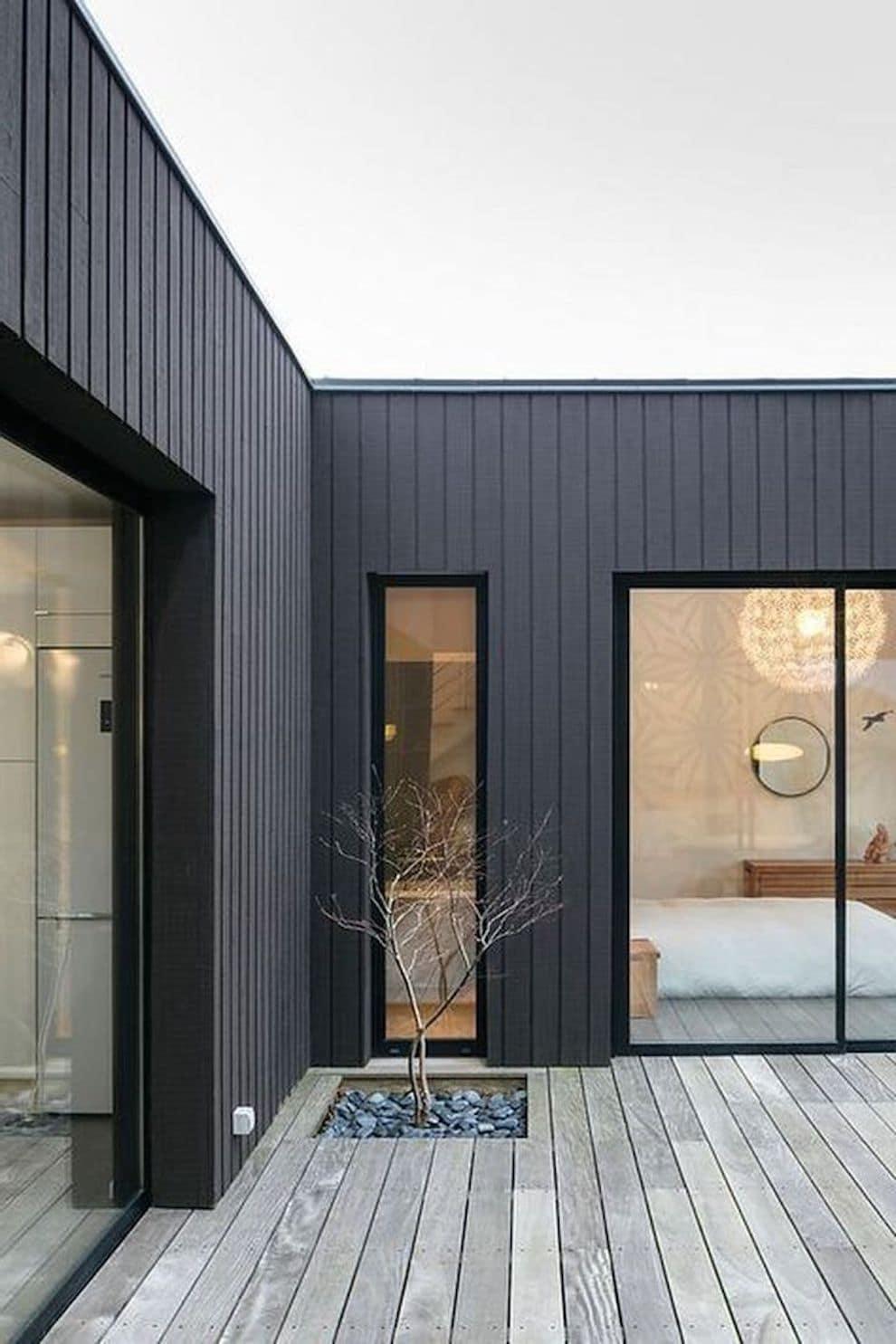 Дом с плоской крышей в скандинавском стиле фото 9