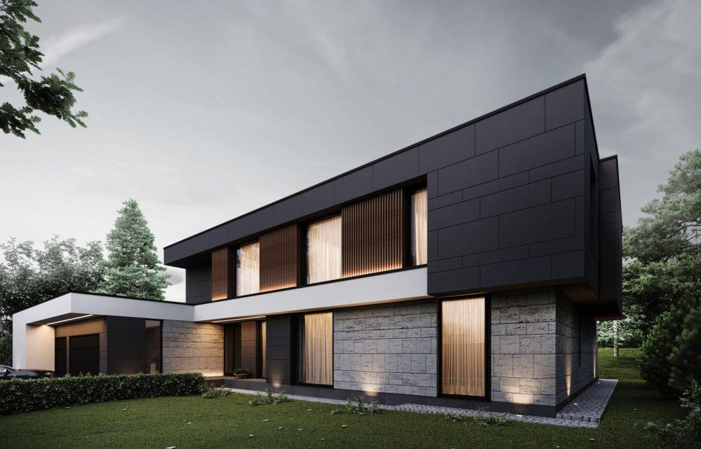 дом с плоской крышей проект фото 5