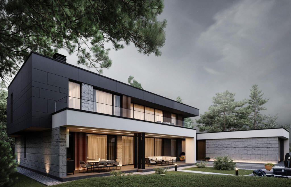 дом с плоской крышей проект фото 6