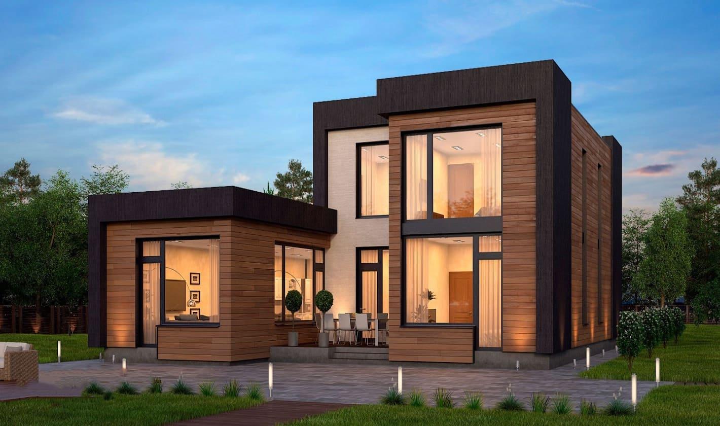 дом с плоской крышей проект фото 7