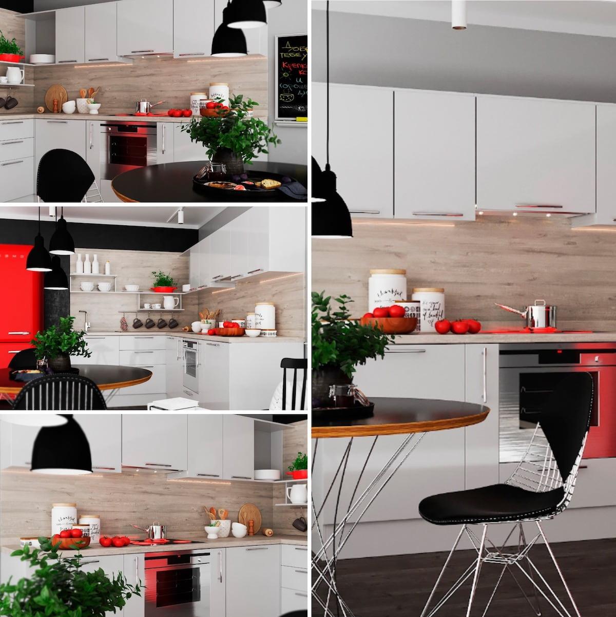 На любой кухне важно правильно скомбинировать цветовую палитру, чтобы не было слишком темно или ярко