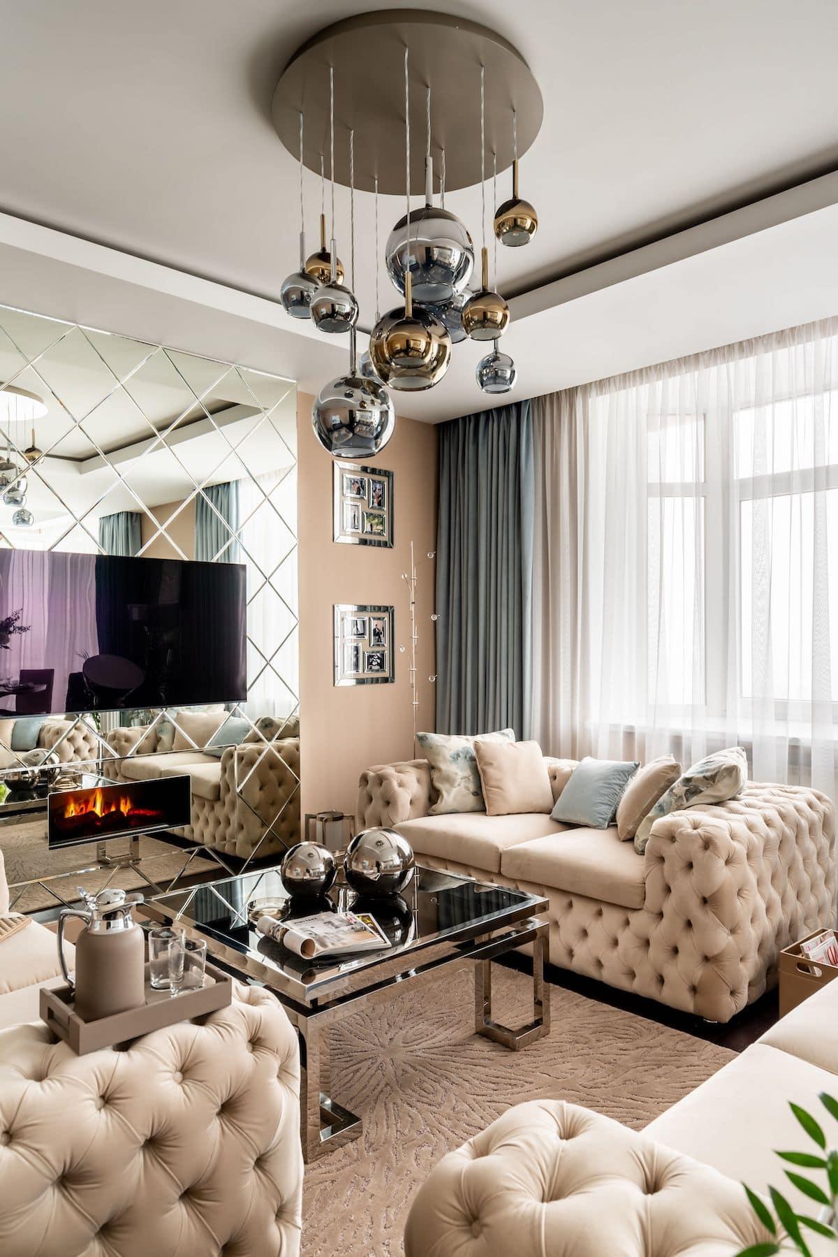 Чарующий интерьер гостиной наполненная теплом и домашним уютом