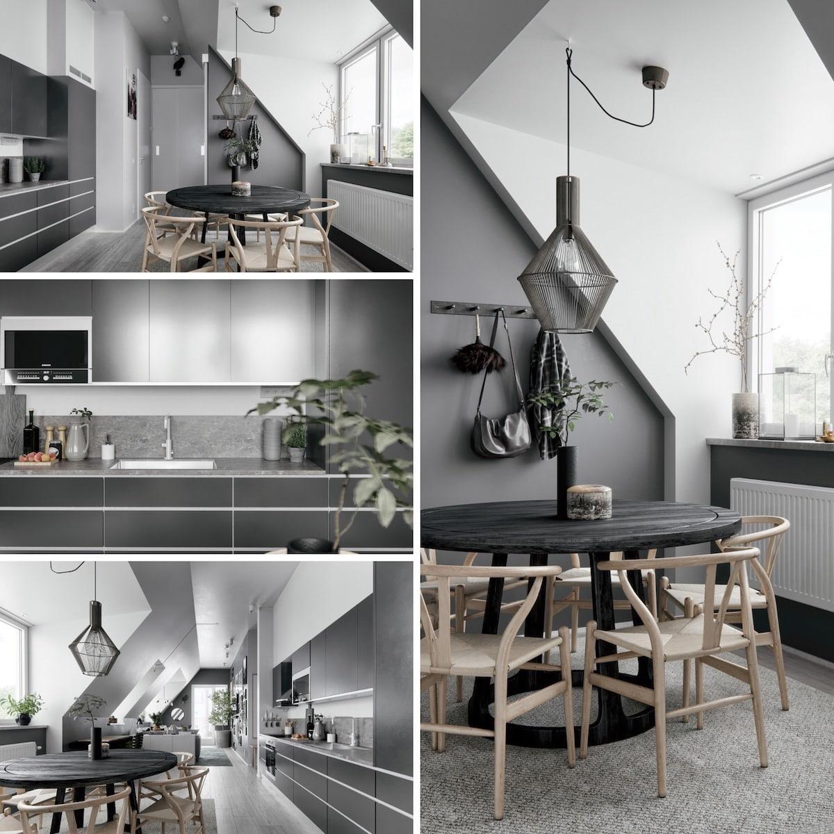 серый цвет в интерьере кухни фото 1