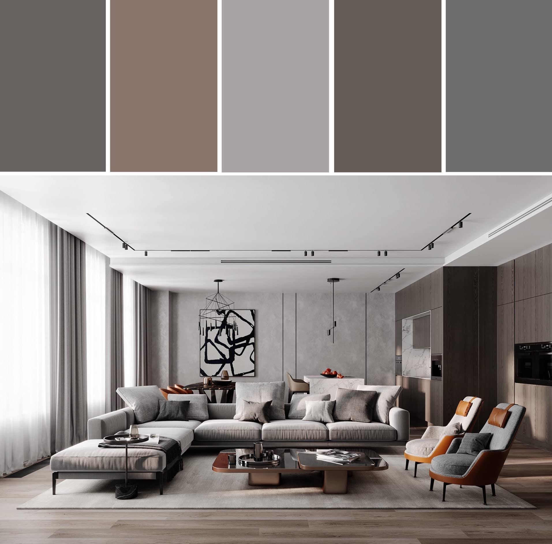 серый цвет в интерьере фото 16