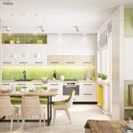 белая кухня с деревянной столешницей фото 5