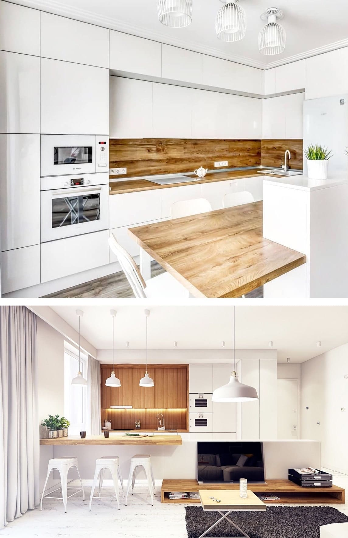 Чтобы в белой кухне было уютно, желательно использовать советы дизайнеров по колористике данного типа помещения