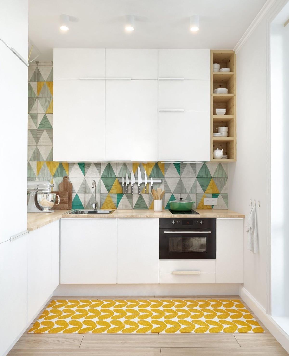 Нежная, яркая и очень стильная кухня в минималистичном стиле