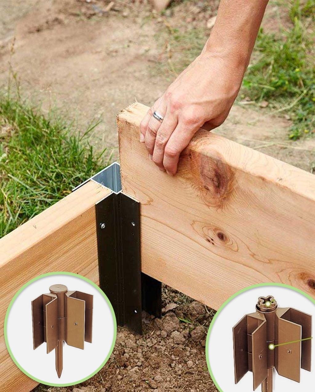 Смастерить из досок конструкцию, ограждающую клумбу – не составит никакого труда даже для начинающего плотника