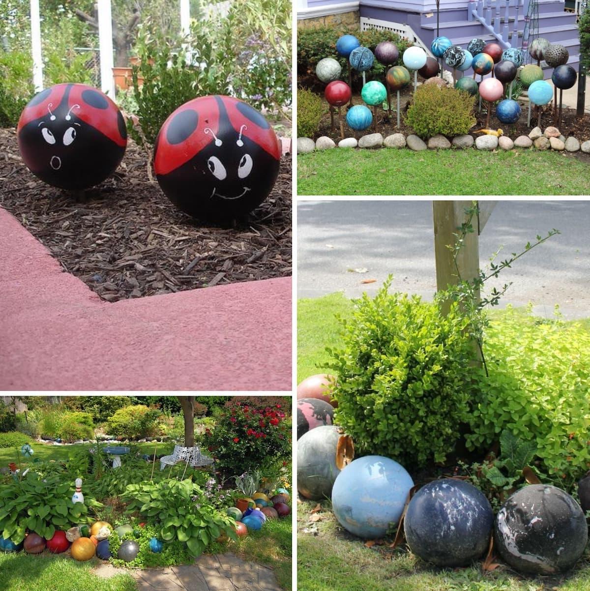 Идеи применения шаров для боулинга в ландшафтном дизайне