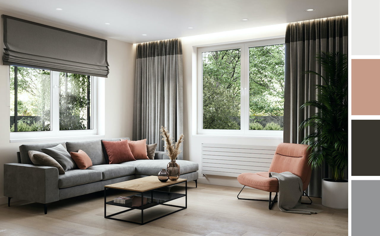 шторы в гостиной фото 1