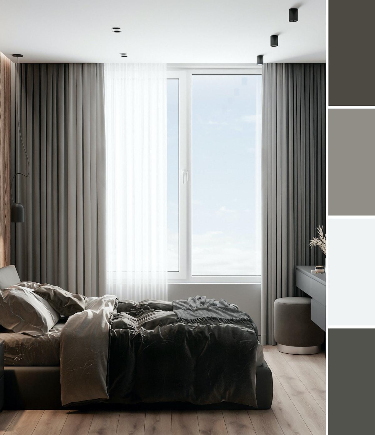 шторы в спальне фото 5