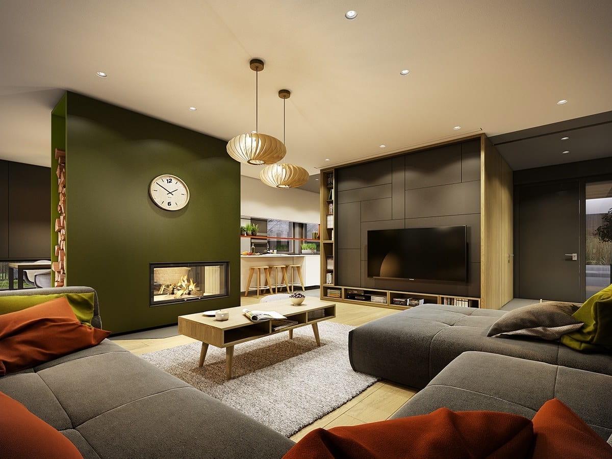 интерьер современной гостиной 10
