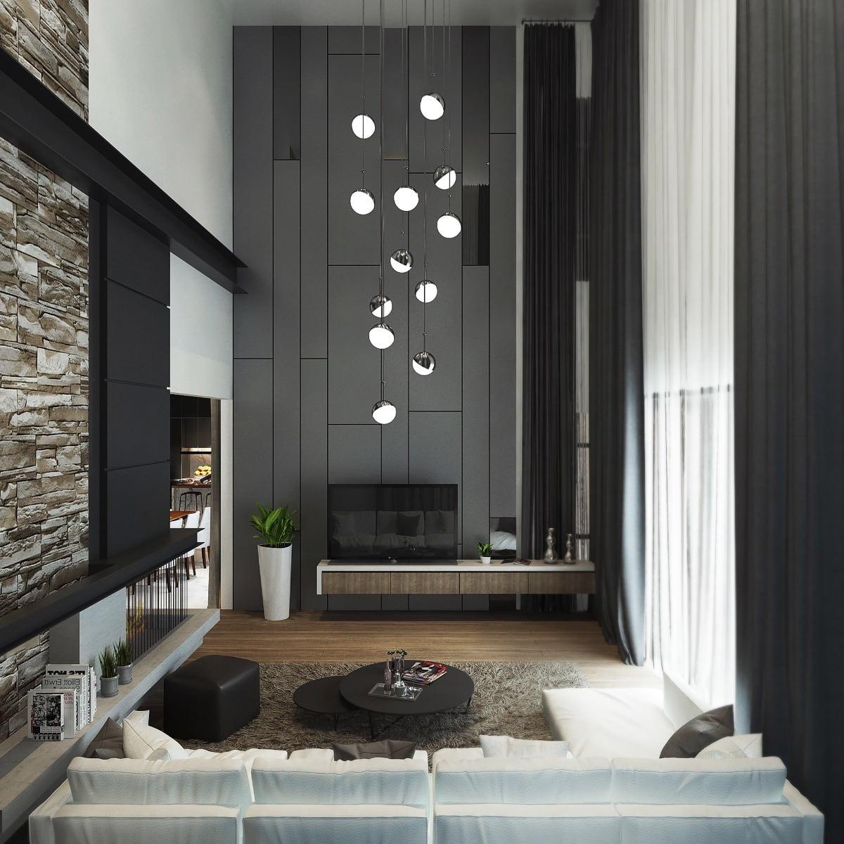 интерьер современной гостиной 11