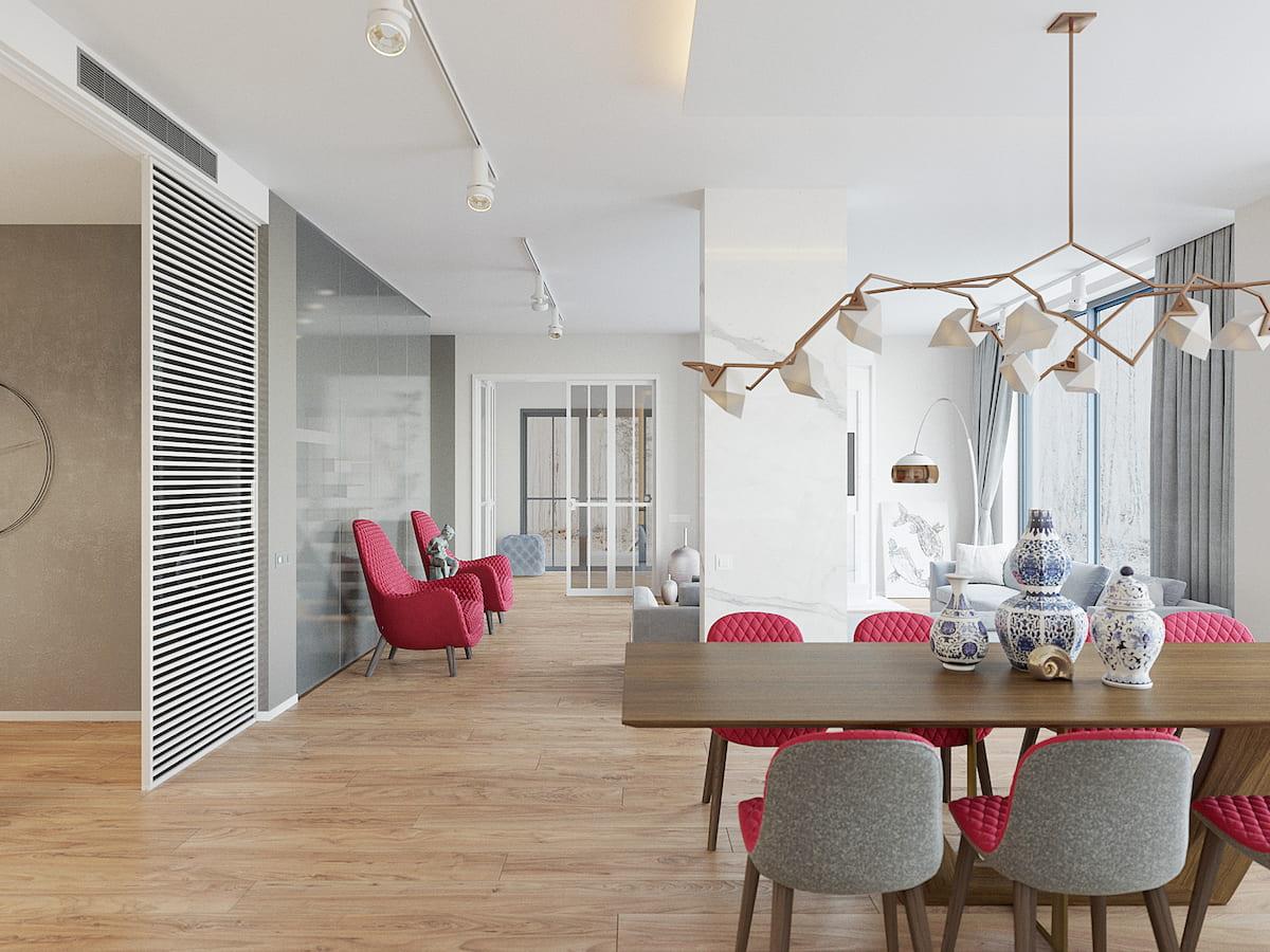 интерьер современной гостиной 8