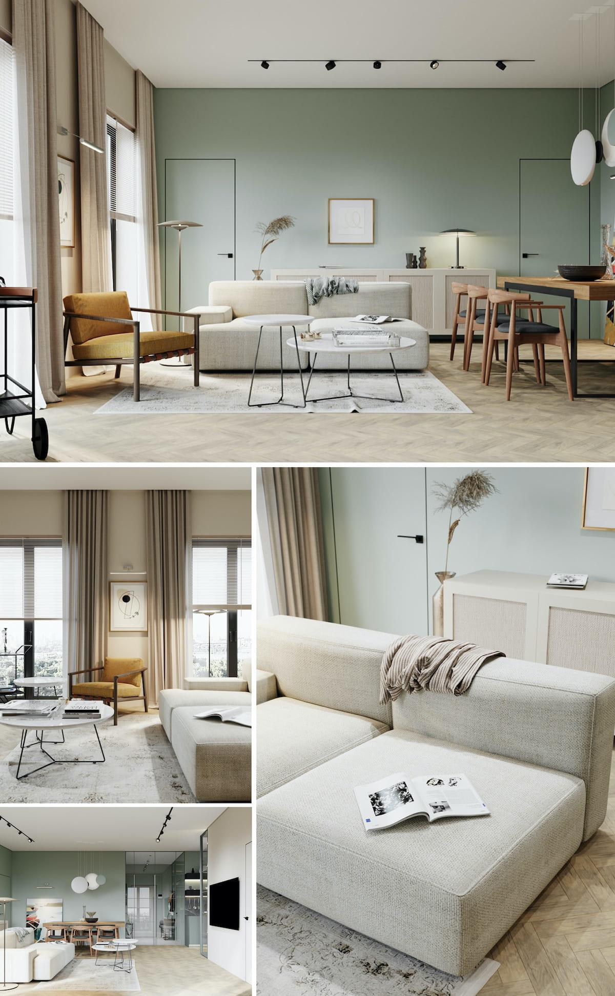 интерьер современной гостиной 2