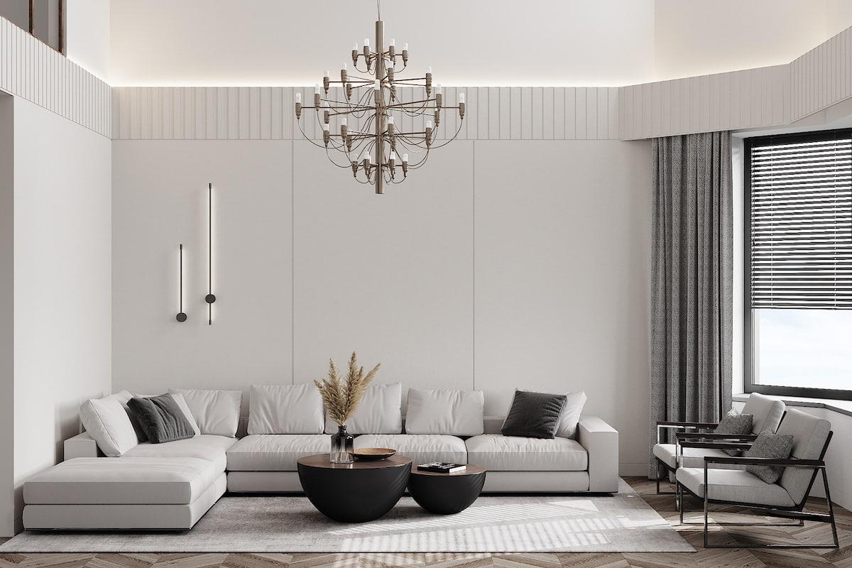 интерьер современной гостиной 18