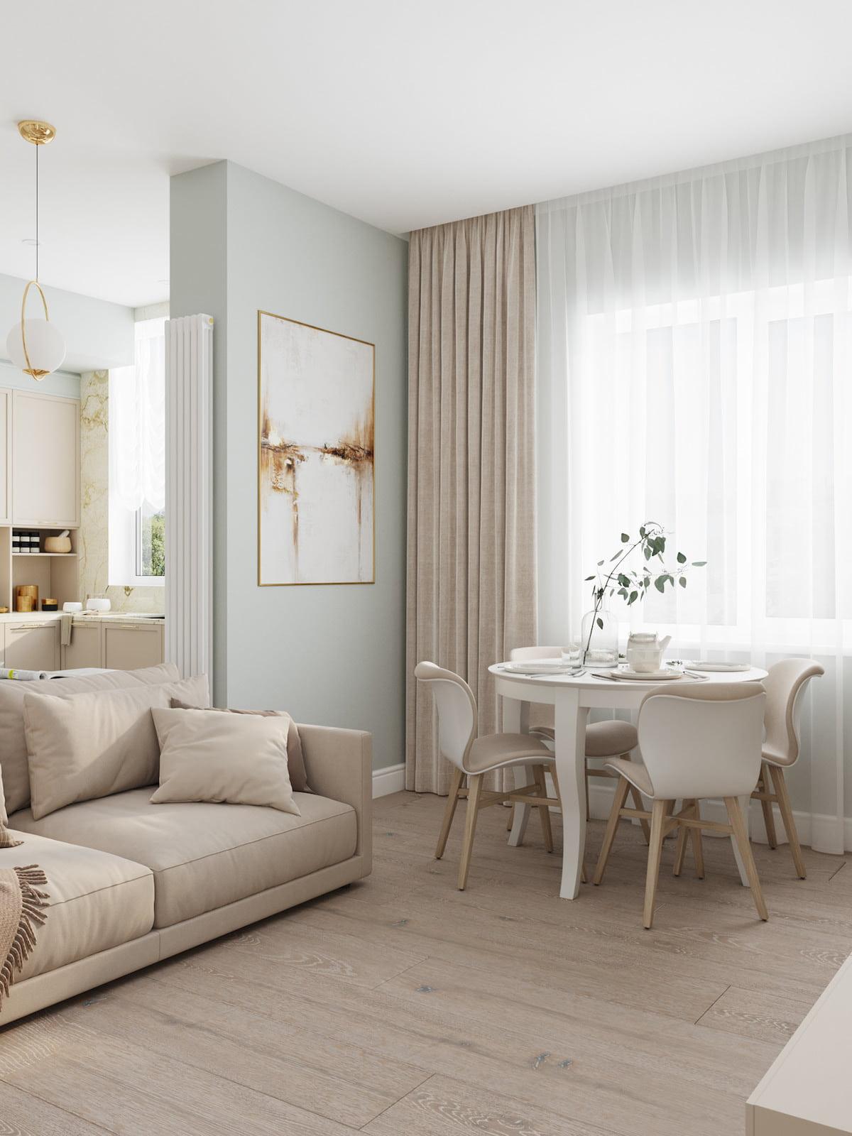 интерьер современной гостиной 22