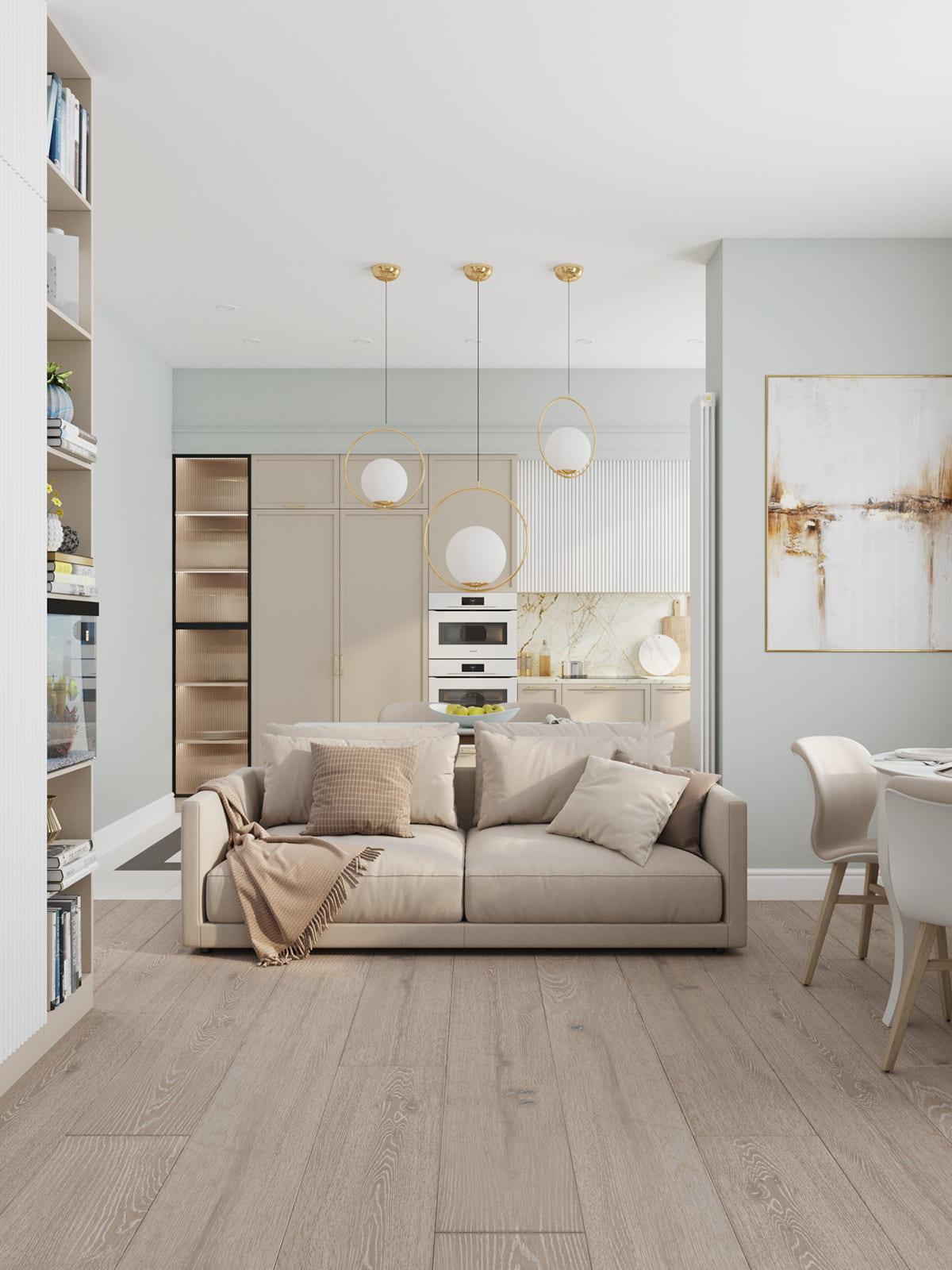 интерьер современной гостиной 23