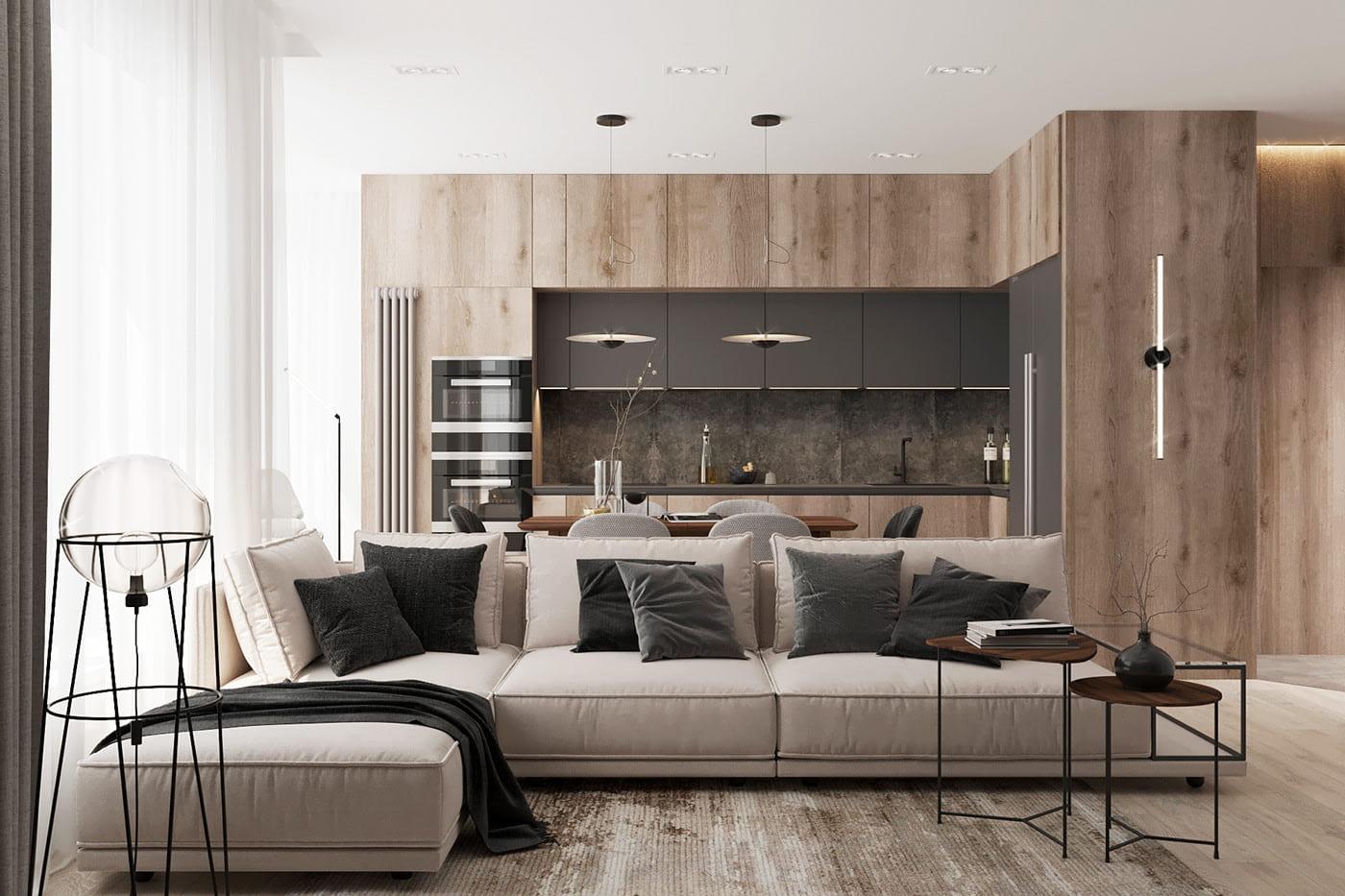 интерьер современной гостиной 24