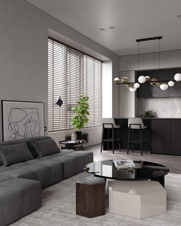 интерьер современной гостиной 4