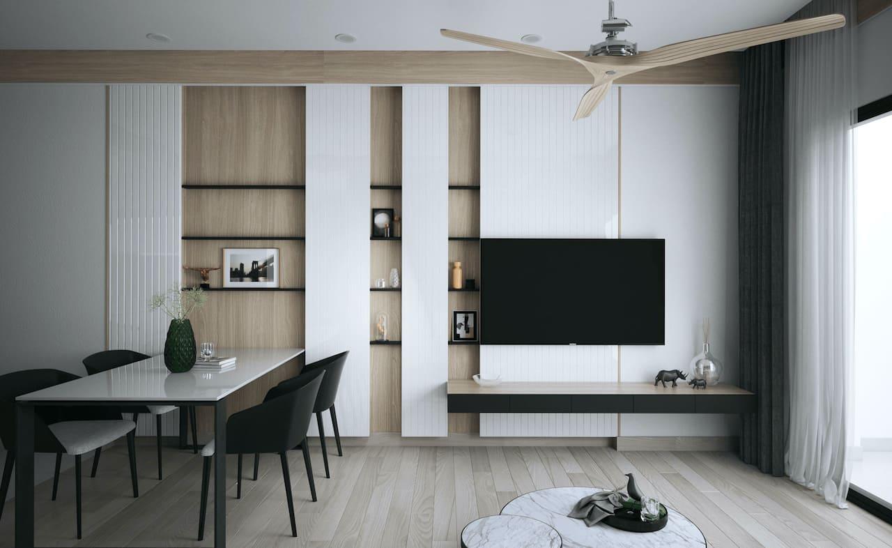 интерьер современной гостиной 49