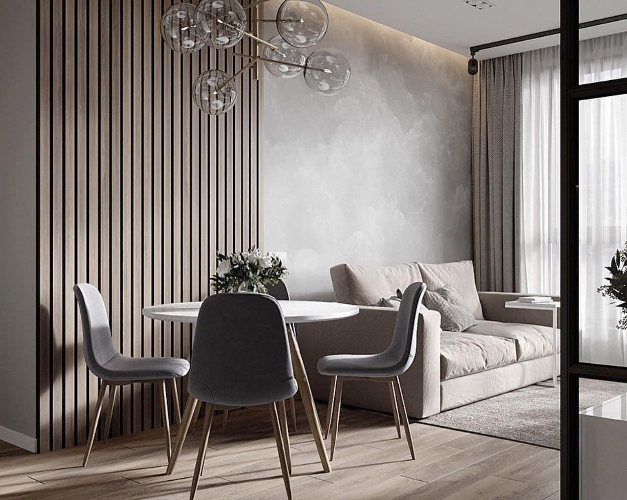 интерьер современной гостиной 45