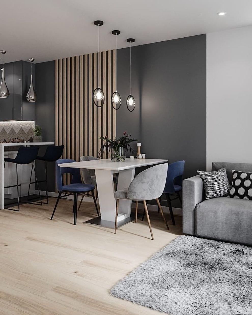 интерьер современной гостиной 14