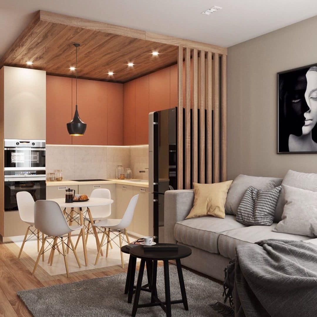 интерьер современной гостиной 16