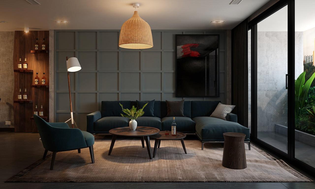 интерьер современной гостиной 38