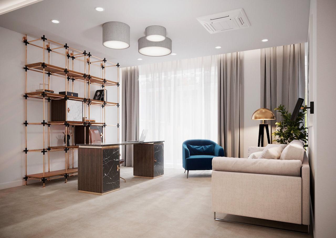 интерьер современной гостиной 39